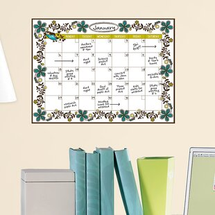 Framed Dry Erase Calendar Wayfair