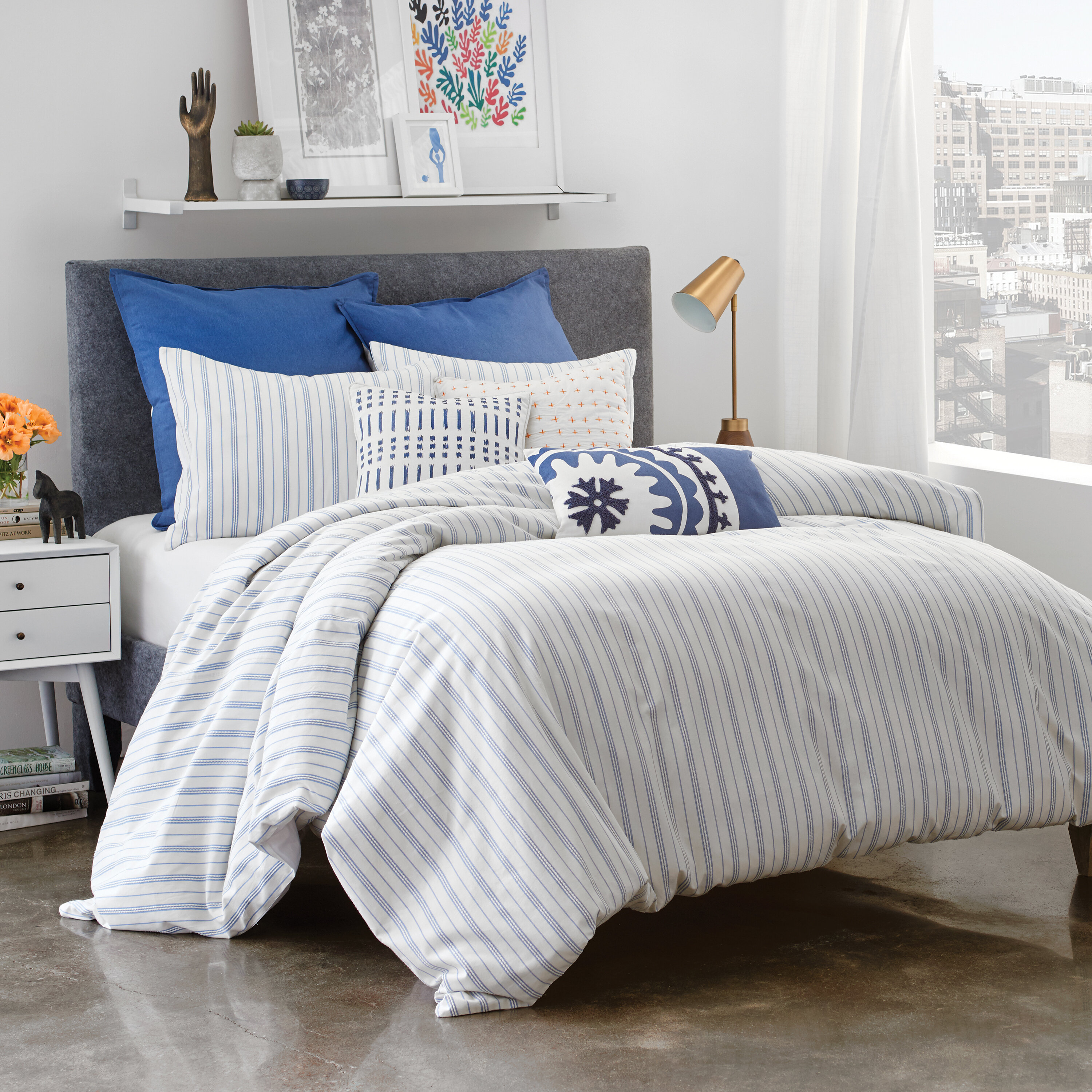 with free comforter piece habitat embroidered set bath bedding pink urban today duvet cover callie overstock detailing shipping product pintuck