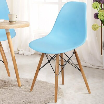 Patio Dining Chair AdecoTrading Finish: Light Blue