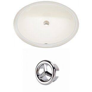 Affordable Price Ceramic Oval Undermount Bathroom Sink with Overflow By American Imaginations