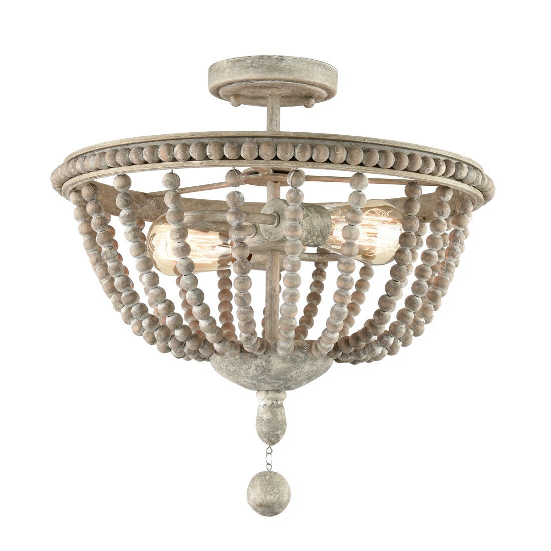 Bungalow Rose Jennerstown 2 Light 15 6 Semi Flush Mount Wayfair