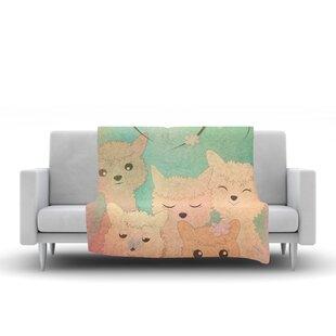 Best Graphic Tabby Spring Alpacas Animals Fleece Blanket ByEast Urban Home
