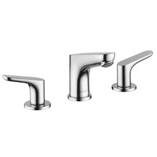 Buy clear Focus E Widespread Bathroom Faucet with Drain Assembly By Hansgrohe