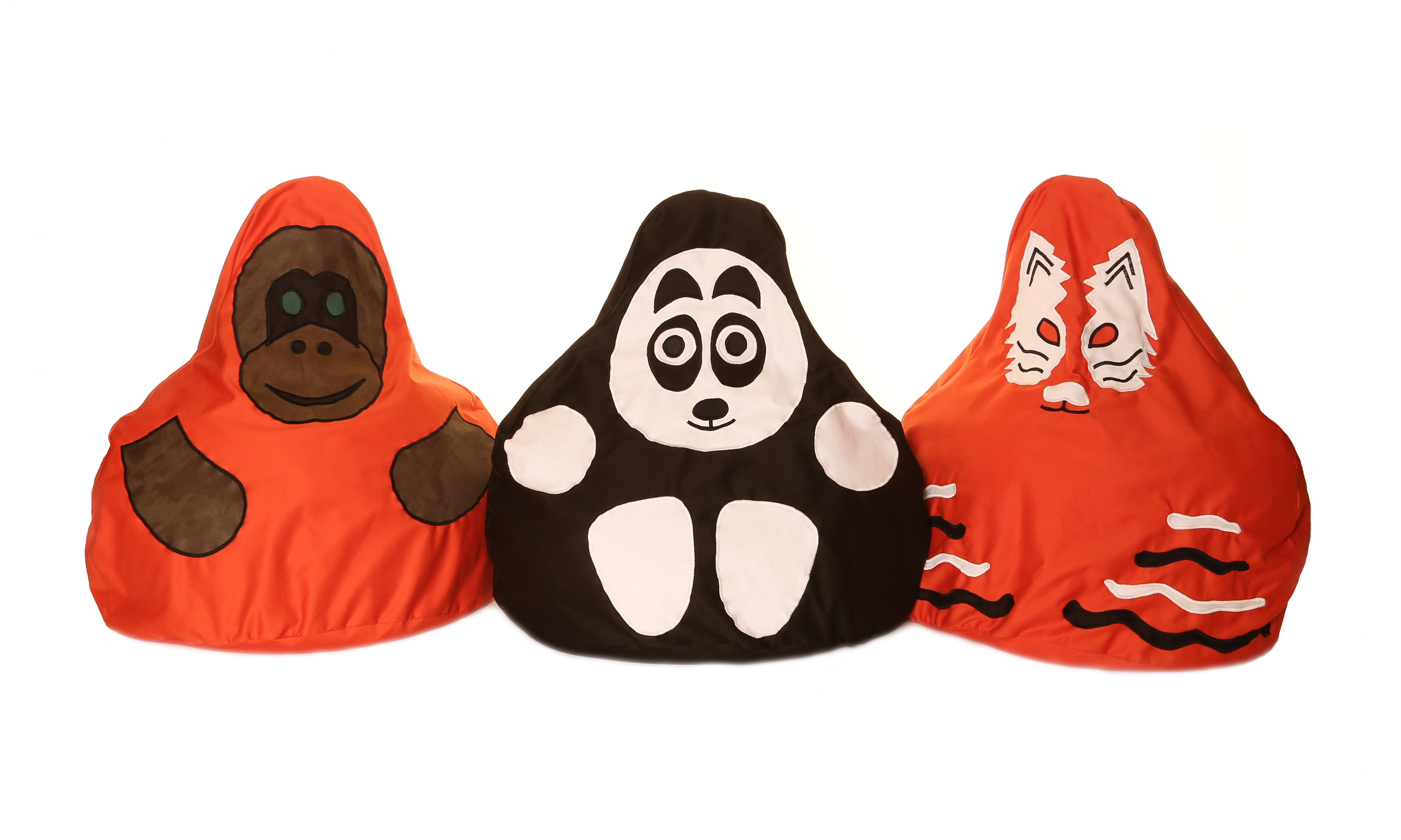 Full Of Beans 3 Piece Endangered Species Character Bean Bag Chair