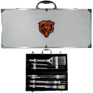 NFL 8 Piece Grilling Tool Set BySiskiyou Gifts