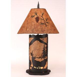 Glenlee Elk Scene 33.5 Table Lamp