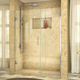 Unidoor Plus 47.5 x 72 Hinged Frameless Shower Door with Clearmax? Technology by DreamLine