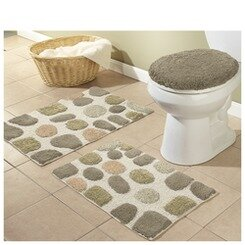 River Rocks 3 Piece Bath Rugs Set
