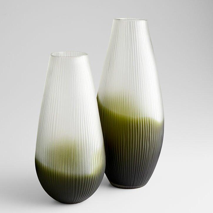 Cyan Design Green White Glass Table Vase Wayfair
