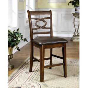 Carlton Leatherette Counter Height Dining Chair in Dark Espresso (Set of 2) by Hokku Designs