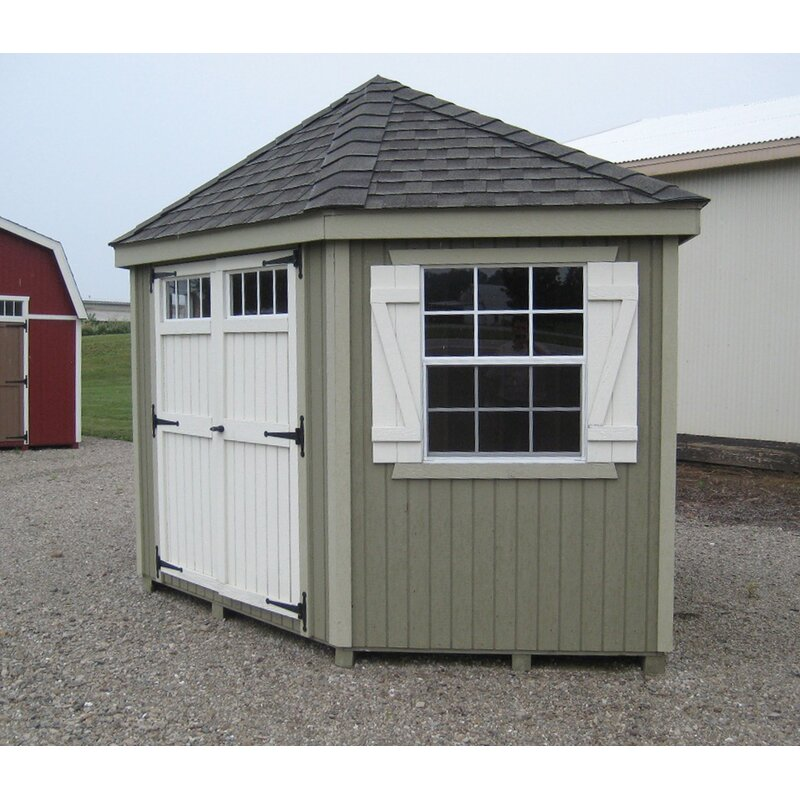 Colonial 10 Ft. W X 10 Ft. D Wooden Storage Shed