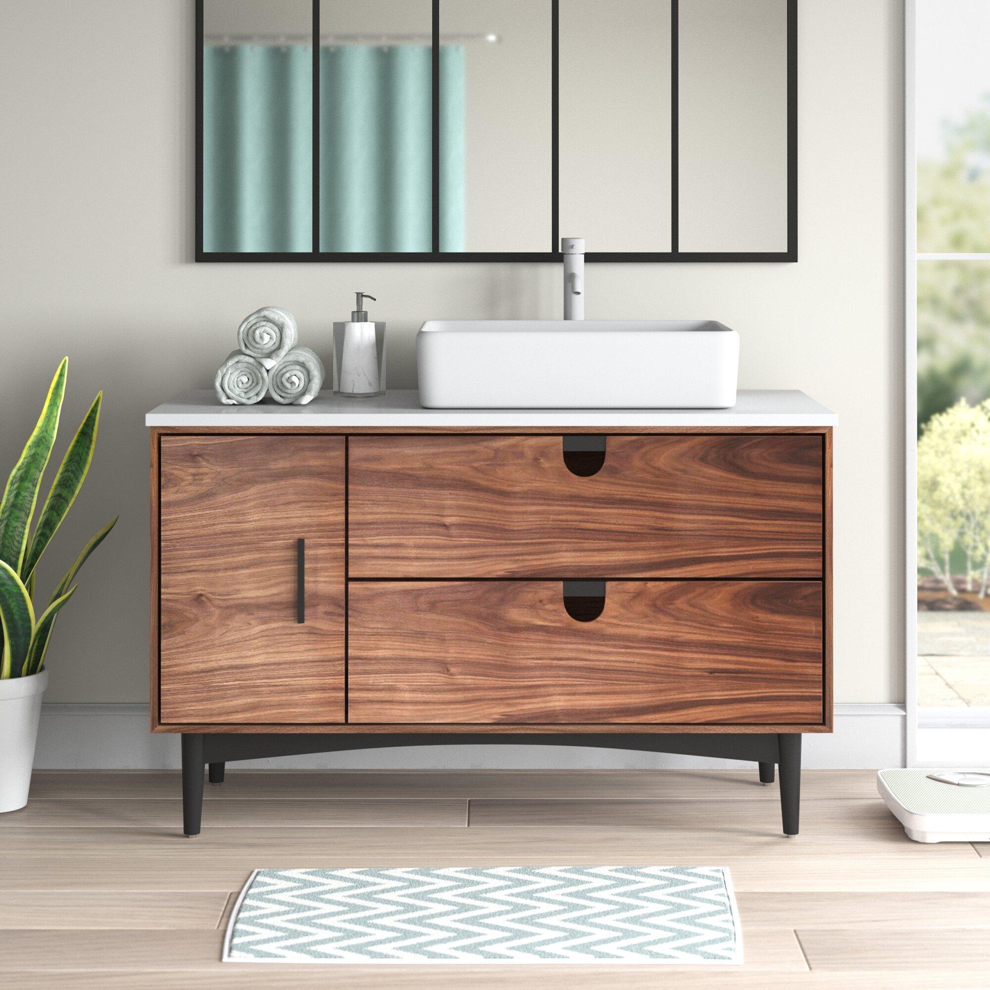 Kartonrepublic Portree 48 Single Bathroom Vanity Set Reviews Wayfair