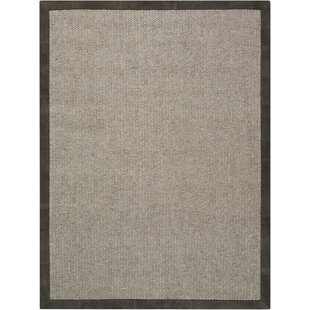 Lucia Hand-Knotted Slate Area Rug by Calvin Klein
