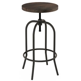Washington Adjustable Height Swivel Bar Stool by Williston Forge