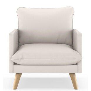 Cragin Vegan Leather Armchair by Corrigan Studio