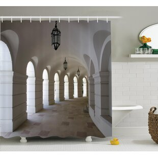 Buildings with Arche Decor Shower Curtain + Hooks