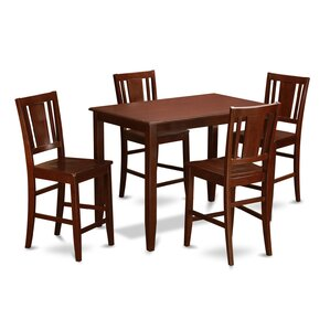Lightner 5 Piece Counter Height Dining Set