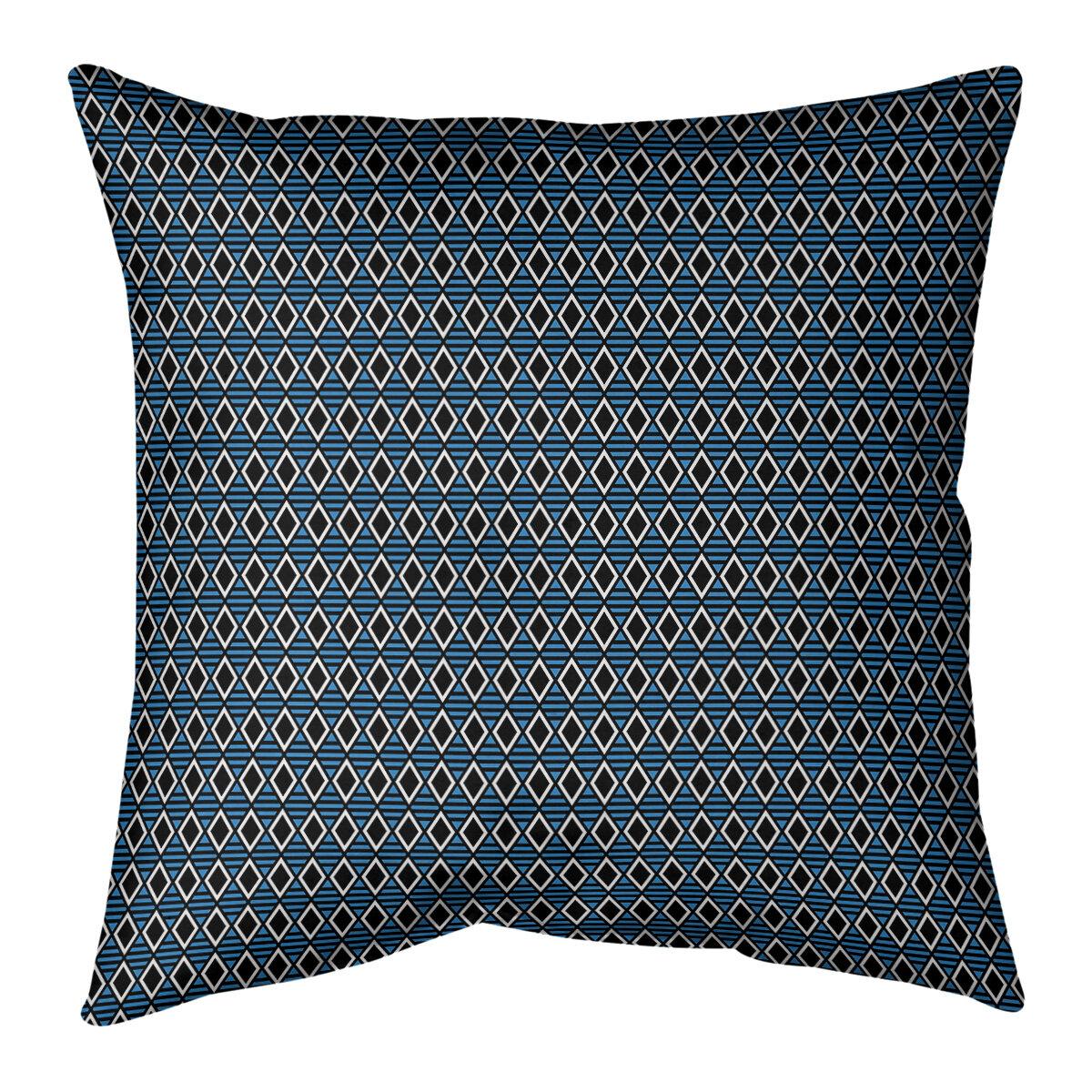 Latitude Run Avicia Geometric Diamonds Pillow Wayfair