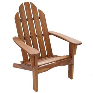 August Grove Psyche Solid Wood Folding Adirondack Chair