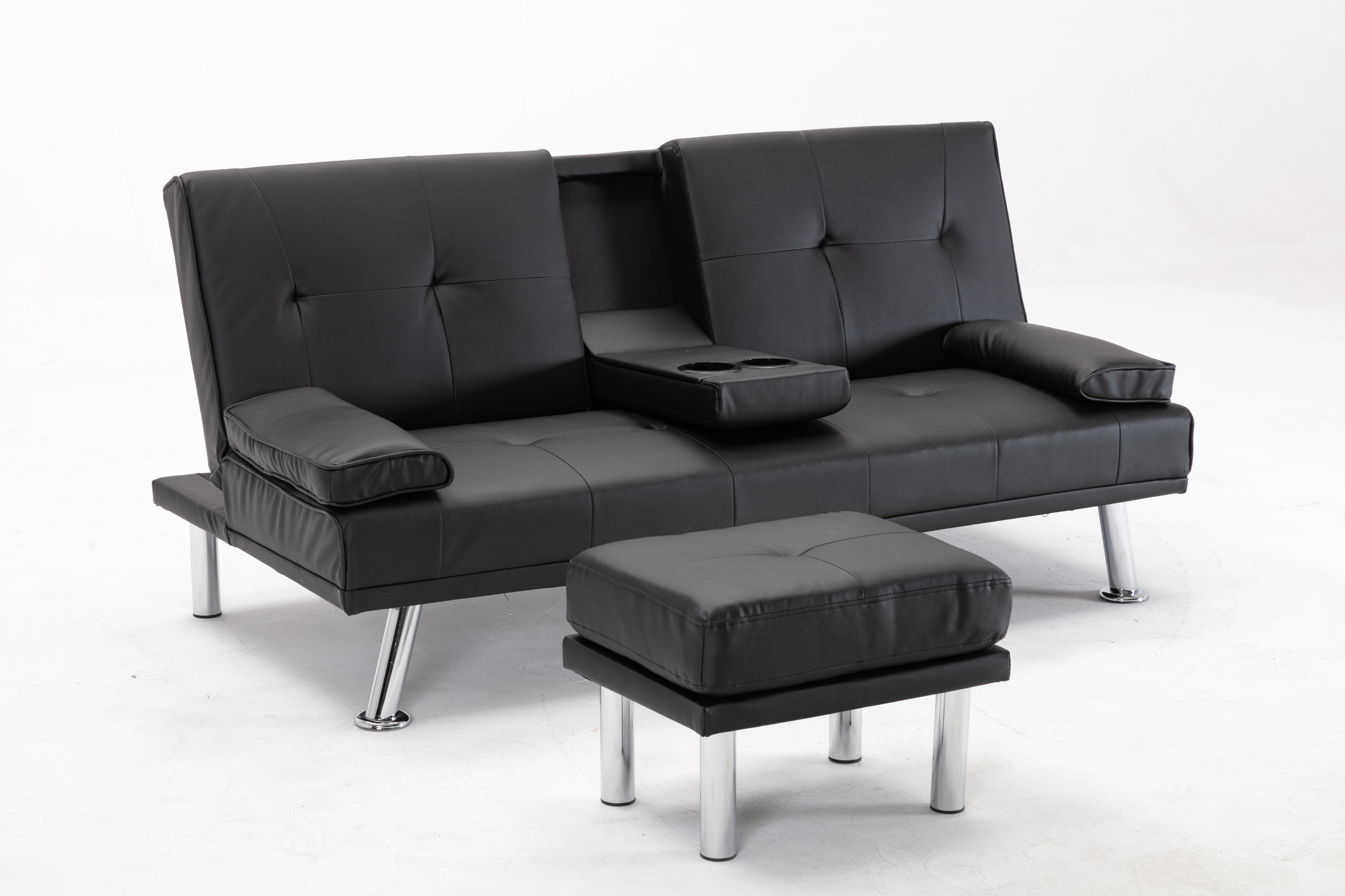 Ebern Designs Anfried Twin Or Smaller 65 35 Split Back Convertible Sofa Wayfair