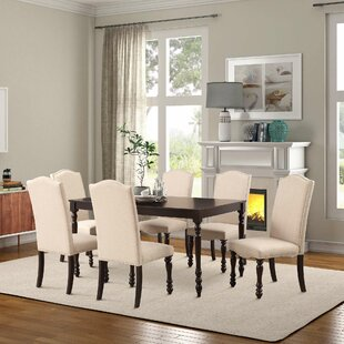 Abarca 7 Piece Solid Wood Dining Set by C..