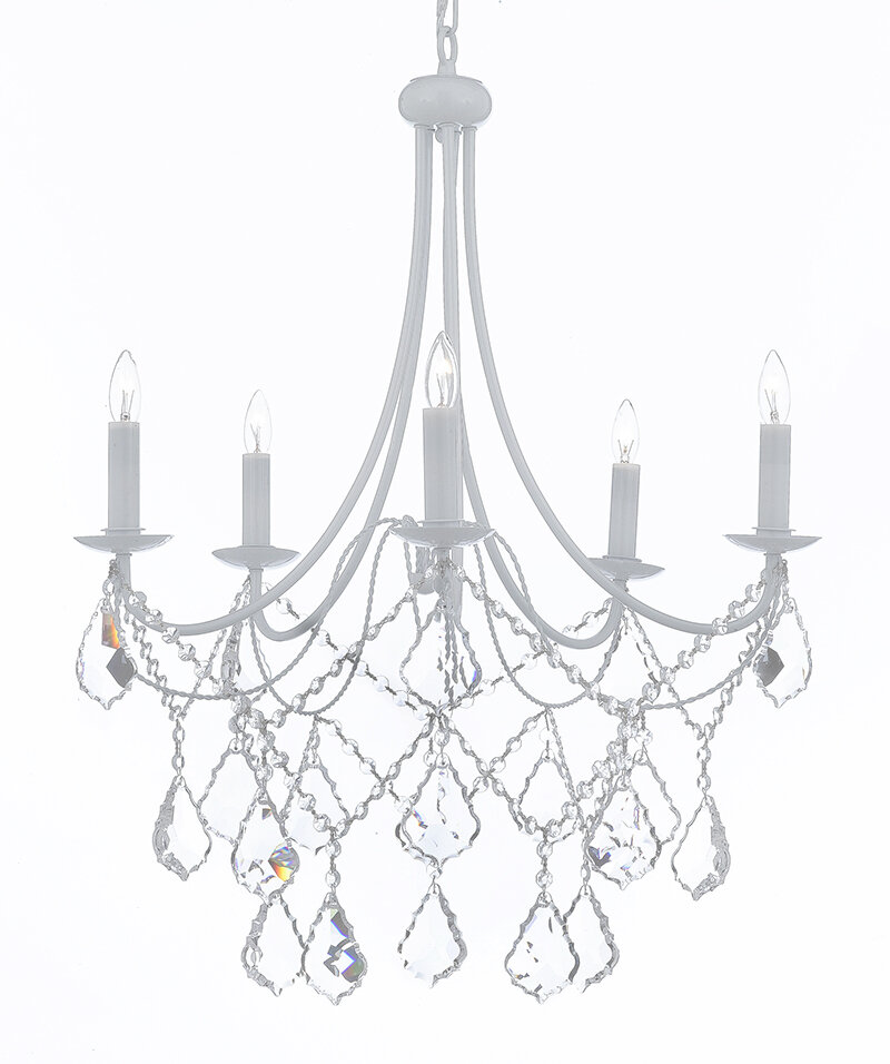 Willa Arlo Interiors Evon 5 Light Led Candle Style Chandelier