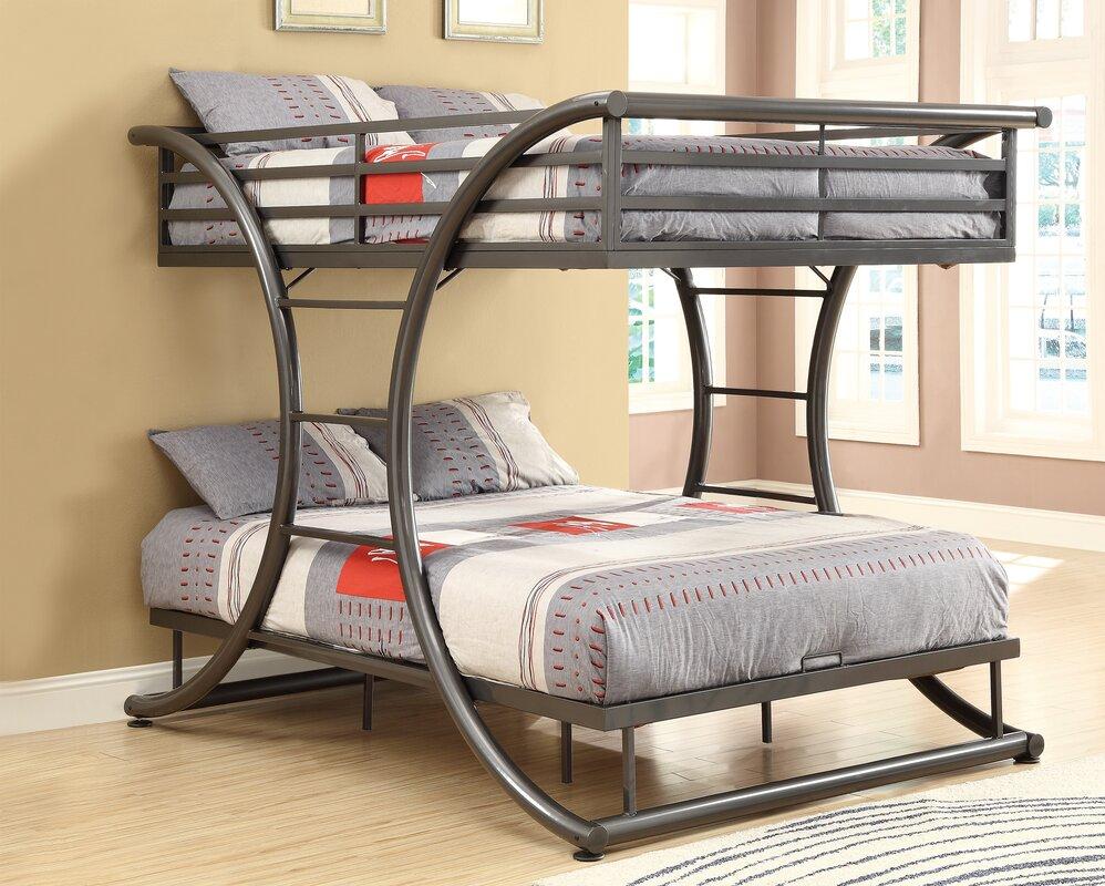 Viv Rae Valerie Full Over Full Bunk Bed  Reviews Wayfair - Full bunk bed