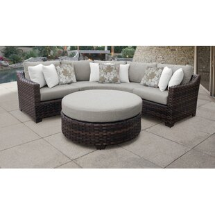 Surprising River Brook 4 Piece Outdoor Wicker Patio Furniture Set 04B Cjindustries Chair Design For Home Cjindustriesco