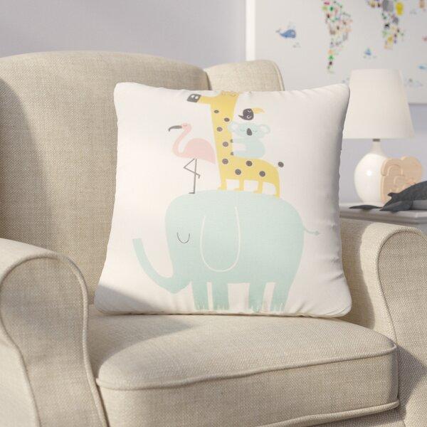 Zoomie Kids Halloway Elephant Throw Pillow Reviews Wayfair