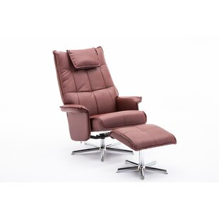 Finkelstein Manual Swivel Recliner with Ottoman