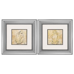 Sketch 2 Piece Framed Painting Print Set