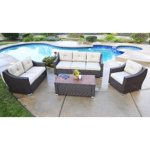 Suai 4 Piece Sofa Set with Cushions