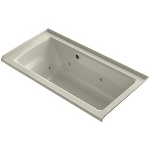 Kohler Archer Alcove Whirlpool with Bask™ Heated Surface, Tile Flange and Right-Hand Drain