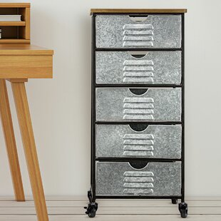 Inexpensive Sela 5 Drawer Rolling Storage Chest By 17 Stories