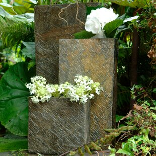3 Piece Stone Plant Pot Set By Symple Stuff