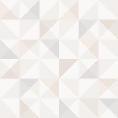 Brewster Home Fashions Wall Vision 33 x 20.9 Dabria Geometric Wallpaper Color: Light Grey