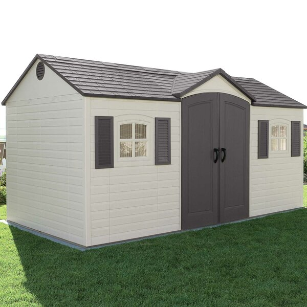 Lifetime Side Entry 14 Ft. 8 In. W X 7 Ft. 8 In. D Plastic Storage Shed U0026  Reviews | Wayfair