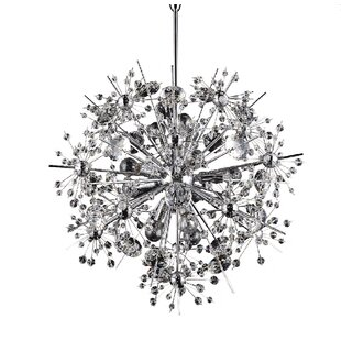 Brayden Studio Maconay Crystal Star Burst Spike 11-Light Sputnik Chandelier