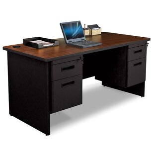 Crivello Box / File Double Pedestal Computer Desk