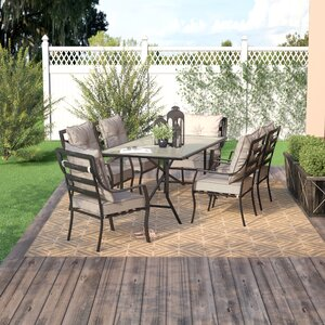 Sweetman 7 Piece Outdoor Dining Set with Cushion