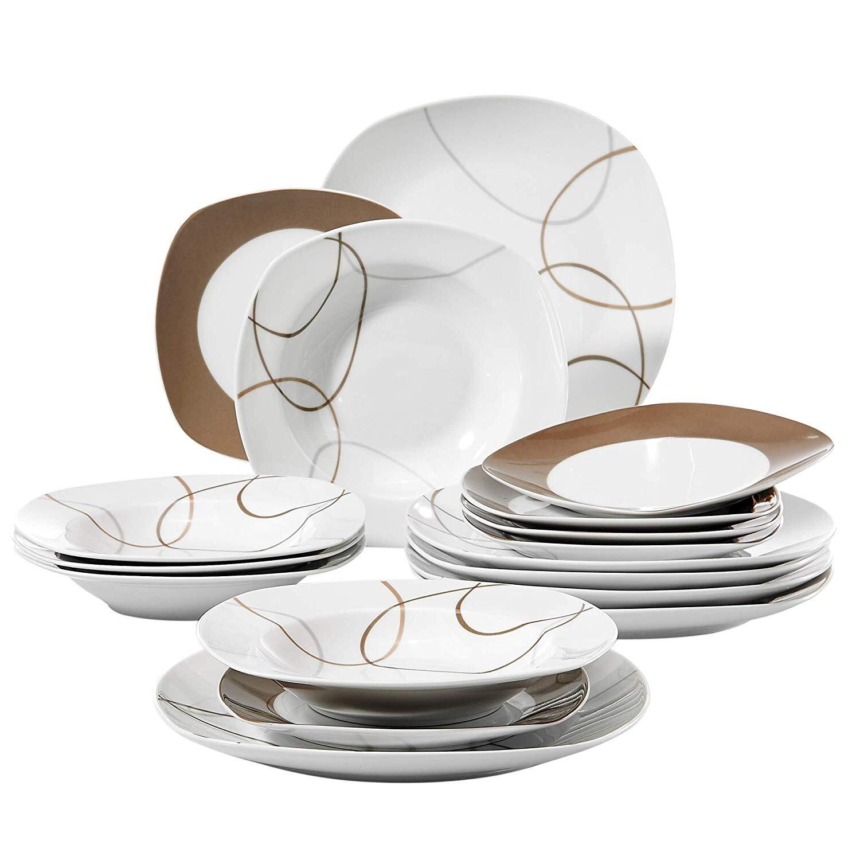 Malacasa Nikita 18 Piece Dinnerware Set Service For 6 Reviews Wayfair