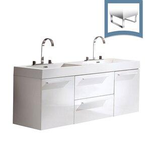 Opulento 54 Double Bathroom Vanity Set by Fresca