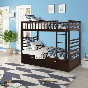 Poarch Twin over Twin Bunk Bed with Trundle by Harriet Bee