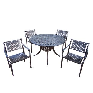 Oakland Living Rose 5 Piece Dining Set