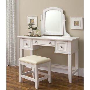 Barnard Vanity & Stool Set with Mirror