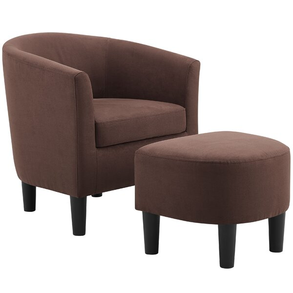 Collections Of Emory Barrel Back Chair And Ottoman