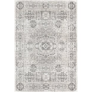 Deals Nannette Transitional Foggy White Indoor/Outdoor Area Rug By Bungalow Rose
