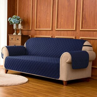 Reviews Quilted Reversible Box Cushion Sofa Slipcover by Winston Porter Reviews (2019) & Buyer's Guide