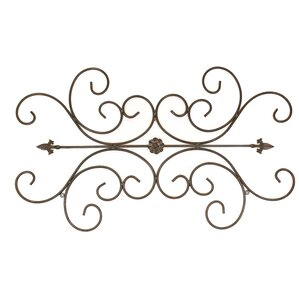 Metal Scroll Wall Decor traditional scroll wall decor | wayfair