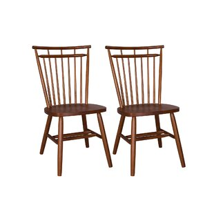 Marni Spindle Back Solid Wood Dining Chair (Set of 2)